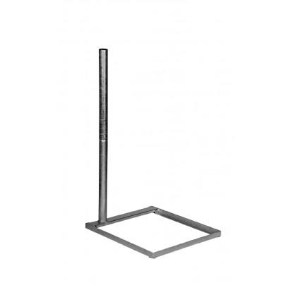 A.S.SAT Stahl Balkonständer 50x50 cm mit geteiltem 1m Mast feuerverzinkt