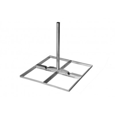 A.S.SAT Goliat Terrassenständer Stahl mit 90cm Mast 2° neigbar für 4 Betonplatten 40x40cm