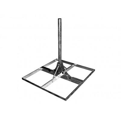 A.S.SAT Goliat Stahl Terassen- Flachdachständer mit 110cm Mast 10° neigbar für 4 Betonplatten 50x50cm