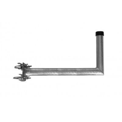 A.S.SAT Stahl Mastausleger 55 cm Feuerverzinkt mit verstrebten Rohr