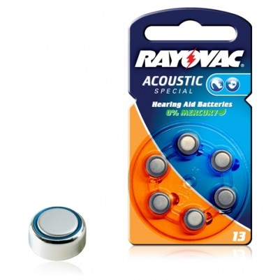 RAYOVAC Hörgerätebatterie 13 Zinc/Luft im 6er Blister
