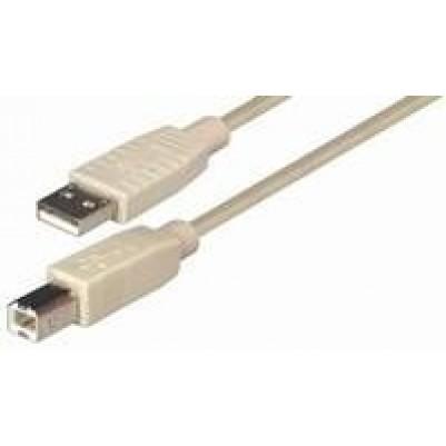 USB-Kabel Stecker A/Stecker B 5 m grau