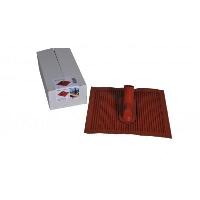A.S. SAT Alu-Dachziegel kunststoffbeschichtet 45 x 50 cm ziegelrot mit Kabeldurchführung