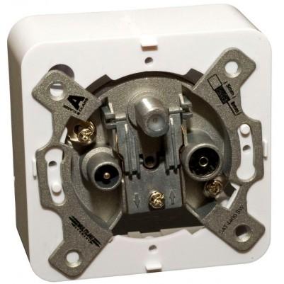 Dreilochenddose incl. Abdeckung und Rahmen schnelle Montage