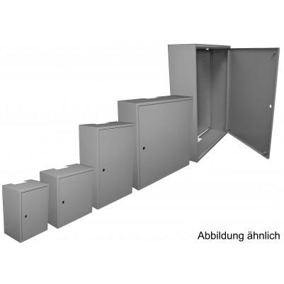 Installationsschrank mit Loch-Metall-Rückwand 400x400 incl. KTH01 Schloss