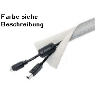Hagor Kabelstrümpfe m. Klettverschluß silber 10m