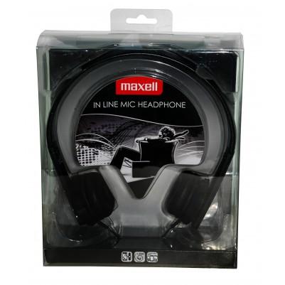 MAXELL HP-MIC Kopfhörer mit Mikrofon schwarz