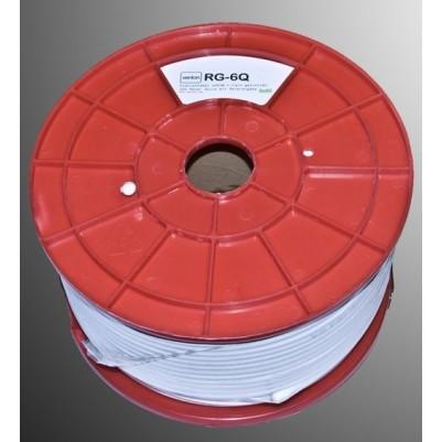 Venton SAT digital Koaxialkabel 4-fach geschirmt 120dB 1,0StaCu, 4,6PE, 7mm PVC weiß