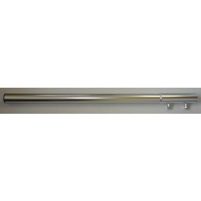 ALU Mastverlängerung 50mm, 1m,verschraubbar, mit Mastkappe