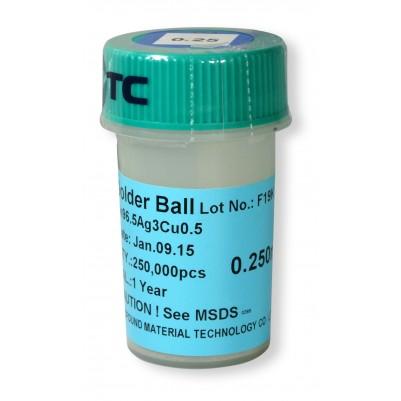 BGA Lötkugeln für Reballing / Rework bleifrei 0.25 mm 250000 Stk.