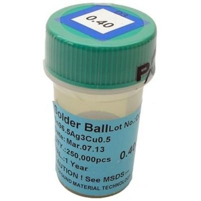 BGA Lötkugeln für Reballing bleifrei Sn96.5Ag3.0Cu0.5 0.40 mm 250000 Stück