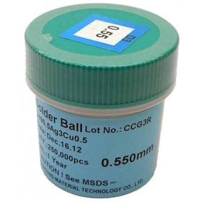 BGA Lötkugeln für Reballing bleifrei Sn96.5Ag3.0Cu0.5 0.55 mm 250000 Stück