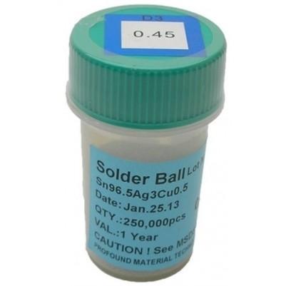 BGA Lötkugeln für Reballing bleifrei 0.45 mm 250000 Stück