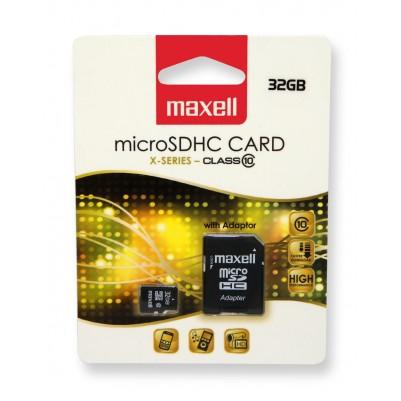 MAXELL Micro SDHC 32 GB Klasse 10 + Adapter