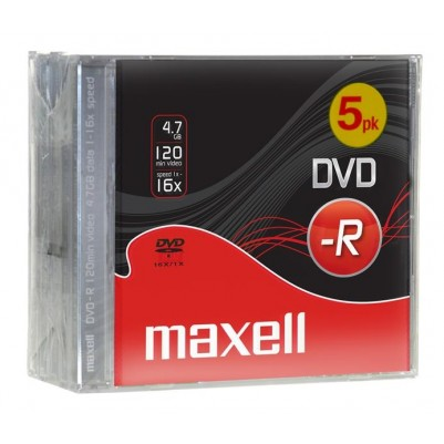 MAXELL DVD-R 16x speed 4,7GB im 5er Jewel Case