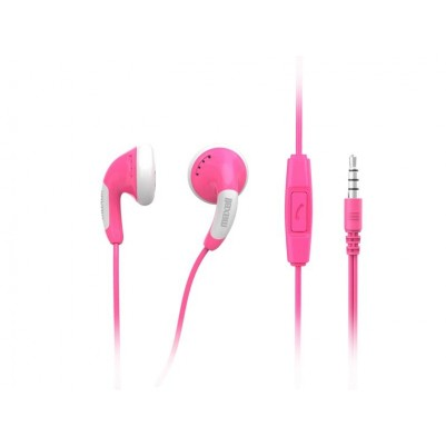 Maxell Colour Budz + Mic Stereo Ohrhörer mit Mikrofon pink