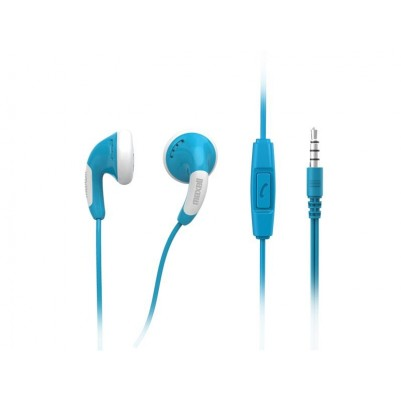Maxell Colour Budz + Mic Stereo Ohrhörer mit Mikrofon blau