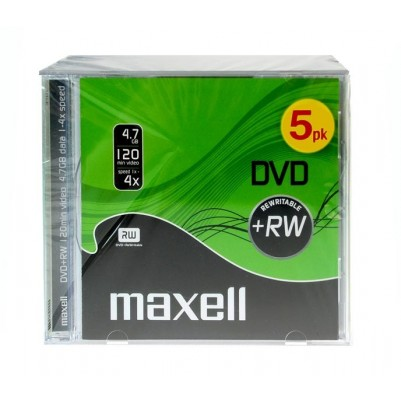 MAXELL DVD+RW 4,7GB überschreibbar 4x speed 5er Jewelcase