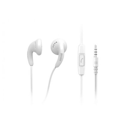 Maxell Colour Budz + Mic Stereo Ohrhörer mit Mikrofon weiß
