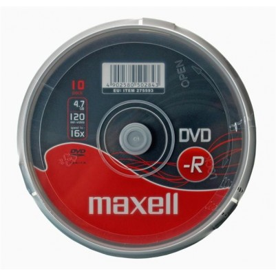 MAXELL DVD-R 4.7GB 16x Speed 10er Spindel