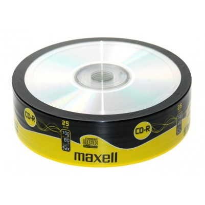 MAXELL CD-R 80 52x speed 700MB 25er Bulk/shrink