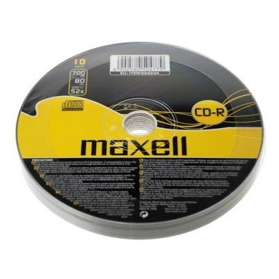 MAXELL CD-R 80 52x speed 700MB 10er Bulk/shrink