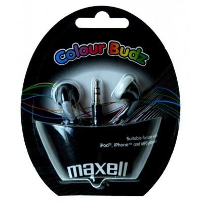 MAXELL Colour Budz Stereo Ohrhörer schwarz Smartphone Klinke 3,5mm