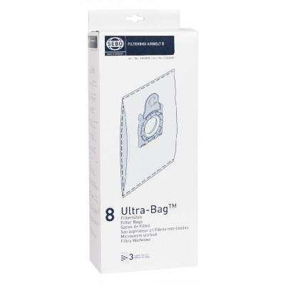 SEBO Filterbox für Airbelt E, 8 Ultra-Bag Filtertüten Inklusive Filterdeckel