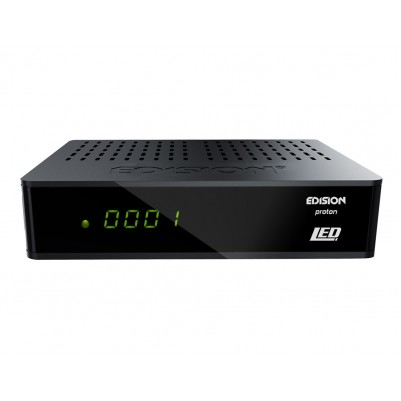 Edision Proton LED FULL HD DVB-S2 Receiver für alle frei empfangbaren TV-Sender