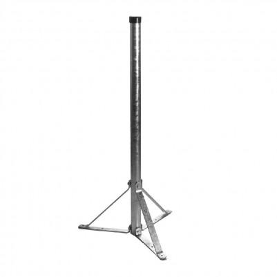 A.S.SAT Stahl Standfuß 100cm Rohr Ø 48mm zerlegbar