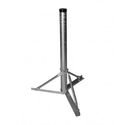 A.S.SAT Stahl Standfuß 100cm Rohr Ø 60mm nivelier- & zerlegbar