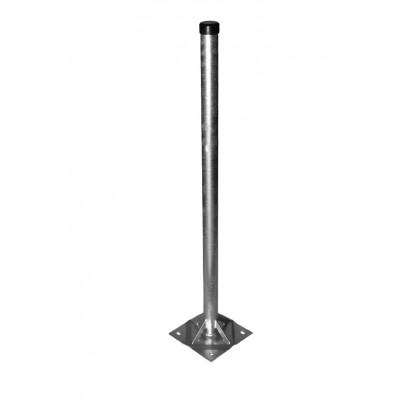 A.S.SAT Stahl Standfuß 100cm mit 20x20 cm Bodenplatte Rohr Ø 48mm verstrebt