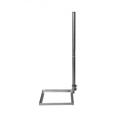 A.S.SAT Stahl Balkonständer 50x50 cm mit geteiltem 1m Mast feuverzinkt