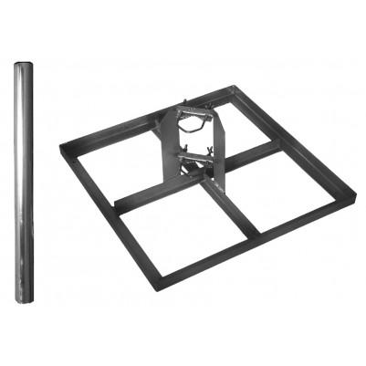 A.S.SAT Stahl-Terassenständer für 4 Betonplatten 30x30 cm mit 85cm Mast