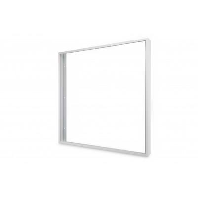 Zielo Aufbaurahmen Aluminium weiß für LED Premium Panel 62x62 cm