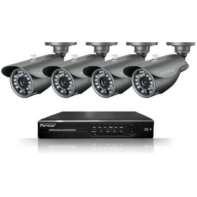 AX SOLID 8-Kanal Videoüberwachungssystem inkl. 4 Kameras