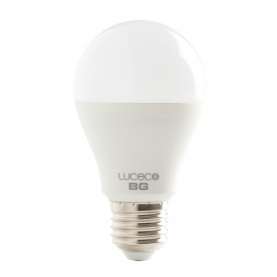 LUCECO 9W LED-Lampe A60 COOL WHITE (6000k), E27, 810lm, 240 Grad Abstrahlwinkel