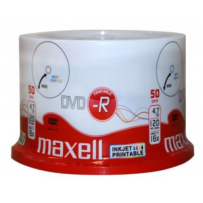 50 MAXELL DVD-R Rohlinge bedruckbar 4,7 GB