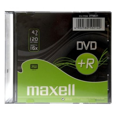 10 MAXELL DVD+R Rohlinge 4.7GB im Slimcase