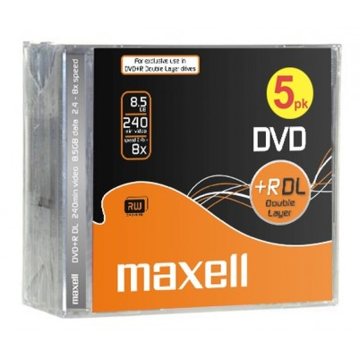 MAXELL DVD+R 8.5GB 8X 8.5GB DL Double Layer, 8x speed, 8,5Gb, 5er Jewel Case
