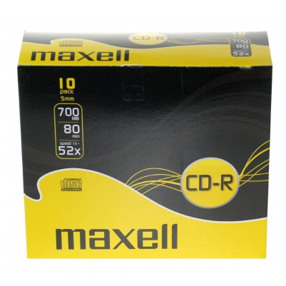 Maxell CD-R 80 XL 52x speed 700MB 10er Slimcase