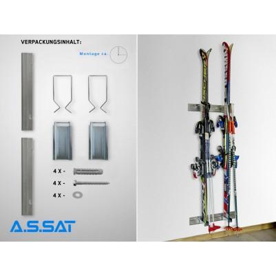 A.S.SAT Ski-Aufbewahrungssystem zur Montage an einer Wand