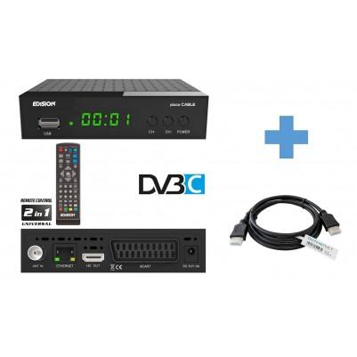 EDISION PICCO C Kabel Receiver, HDMI, Scart inkl. 1,5 m HDMI Kabel