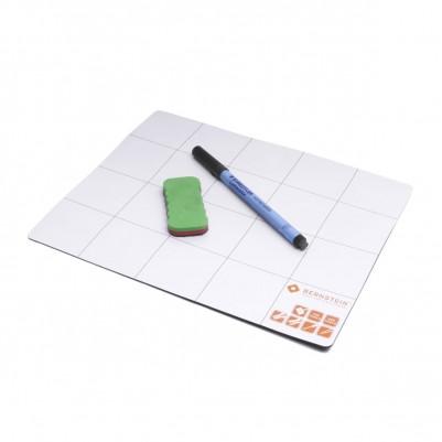 Bernstein Magnetmatte mit Stift und Schwamm