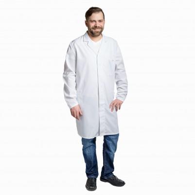 ESD- Herrenarbeitskittel ¾ lang weiß Größe: XL