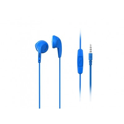 Maxell Stereo Ear Buds + Mic Ohrhörer Freisprechfunktion 3,5mm Klinke blau