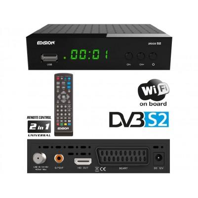 Edision Full HD Satelliten Receiver Picco S2 Sat inkl. WiFi Youtube HDMI USB
