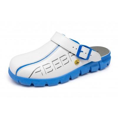 ABEBA ESD-Berufsschuh Dynamic Clog weiß/ blau Größe 46