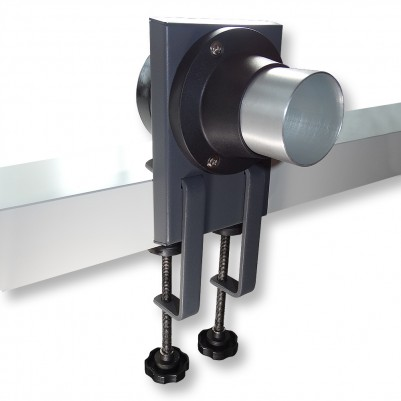 QUICK Tischadapter mit Zwingen für Absaugarm 50mm und Schlauch 75mm