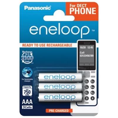 Panasonic eneloop Akku AAA Micro LR03 NiMH vorgeladen für DECT 800mAh im 3er Blister